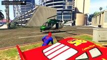 Morsom Iron Man Og Spiderman Og Super Bil Og Mcqueen Kjøring For Barn