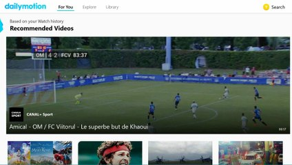 Dailymotion Xbox One Application