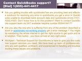 Contact Quickbooks error support 8554414417?