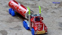 How to Make a Coca-Cola Truck with DC motor - Awesome Coca-Cola Truck