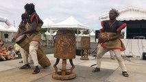 Atelier percussions au festival Les Folklores du monde