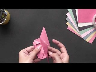 Origami - Origami in Sindhi - Make a Heart Shaped Bookmark