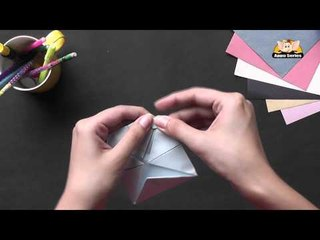 Origami - Origami in Sindhi - Make a Lotus with 4 Petals