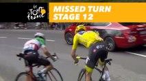 Froome et Aru manquent un virage / missed a turn - Étape 12 / Stage 12 - Tour de France 2017