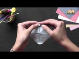 Origami - Origami in Gujarati - Make a Lotus with 4 Petals