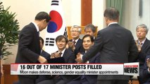 South Korean president appoints defense, science, gender equality ministers
