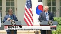 U.S. seeks to 'modify' FTA deal with Korea, not 'renegotiate'
