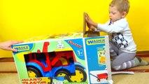 Rouleau jouet jouets déballage et jouets test Tracteur grand pied dentraînement de montage de décompression