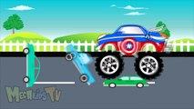 Capitaine Amérique un camion contre carcajou monstre camions pour enfants enfants dessin animé