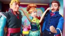 Frozen Fever Annas Birthday Party P2 Queen Elsa Sick Olaf Kristoff Hans Barbie Parody Toy
