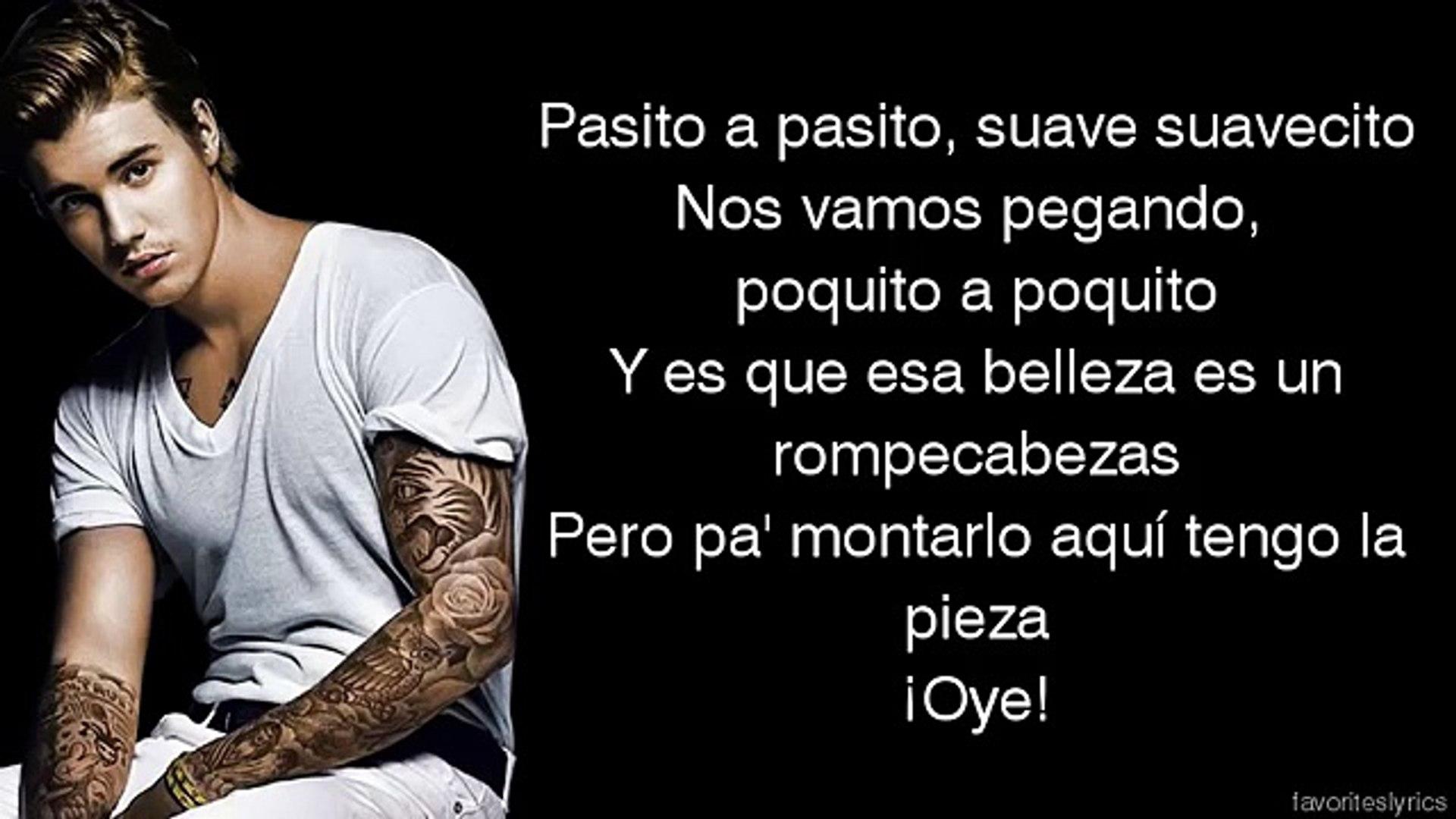 Justin Bieber Despacito Lyrics On Screen Ft Luis Fonsi Daddy Yankee