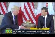 Francia: Emmanuel Macron dio la bienvenida a Donald Trump