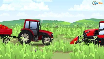 Tractor and Friends Formation and uses for Kids   Traktor I Przyjaciele Żniwa - Bajki dla dzieci
