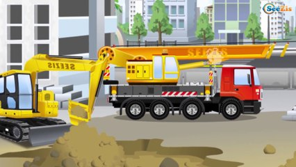 Videos for kids with The Blue Cement Mixer Truck & Car Construction Bip Bip Cars TV