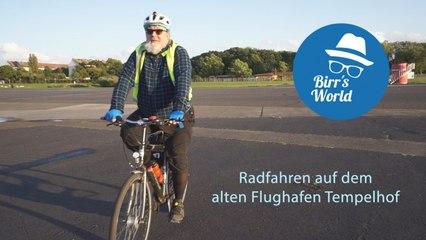 Radfahren auf dem alten Flughafen Tempelhof