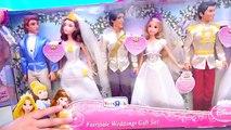 Juguetes de Barbie y de princesas - Vestidos de novia de las princesas Rapunzel Cenicienta y Bella