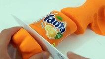 Comment faire une bouteille de Fanta en pâte à modeler Play Doh - Play Doh bottle Fanta - Gloopy