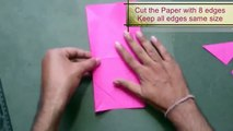 How to Make a Paper Diamond with Eight edges | Origami