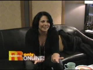 Backstage with Sara Ramirez on Rachel Ray Show 11/09/07