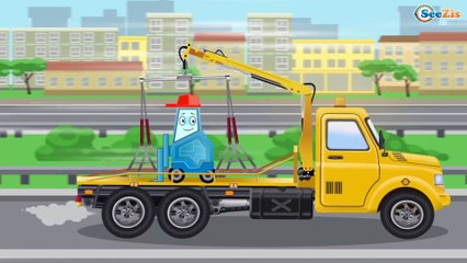 The Tow Truck Adventures - Service Vehicles - Kids Cartoon - Cars & Trucks Cartoons for children