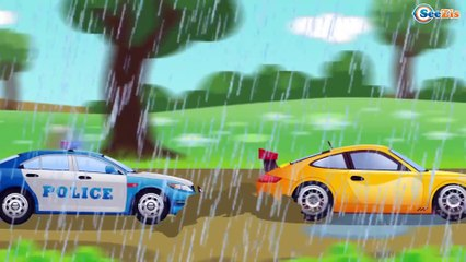 Cars & Trucks Cartoons for children | Police Car with Car Wash Adventures | Kids Cartoon