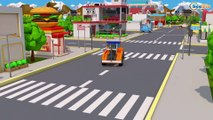 Learn Vehicles - Fire Truck with Monster Truck Crash on the road! 3D Animation Cars & Truck Stories