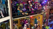 WOLF DEN Monster High Doll House Tour Room 4 of 40+ Bed of Clawdeen Clawdia Howleen