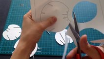 How To Make 3D Christmas Snow Ball Pop Up Card Kirigami Tutorial