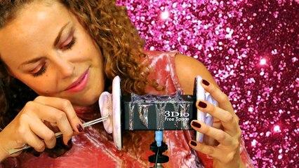 ASMR Ear Cleaning Glitter Glue With Brushing & Ear Massage – 3Dio Binaural Microphone