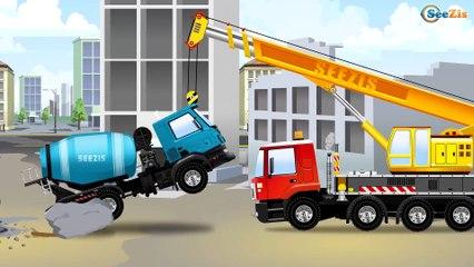 Tracteur, Camions. Construisons un tracteur. Dessin animés pour enfants en français