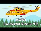 Helicopter for Kids - AW101 Cormorant Rescue 912   Videos For Kids   Fun2Fly Cha