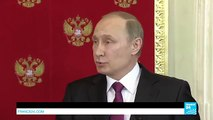 Vladimir Putin claims the US plans to plant chemical weapons in Syria, attack an