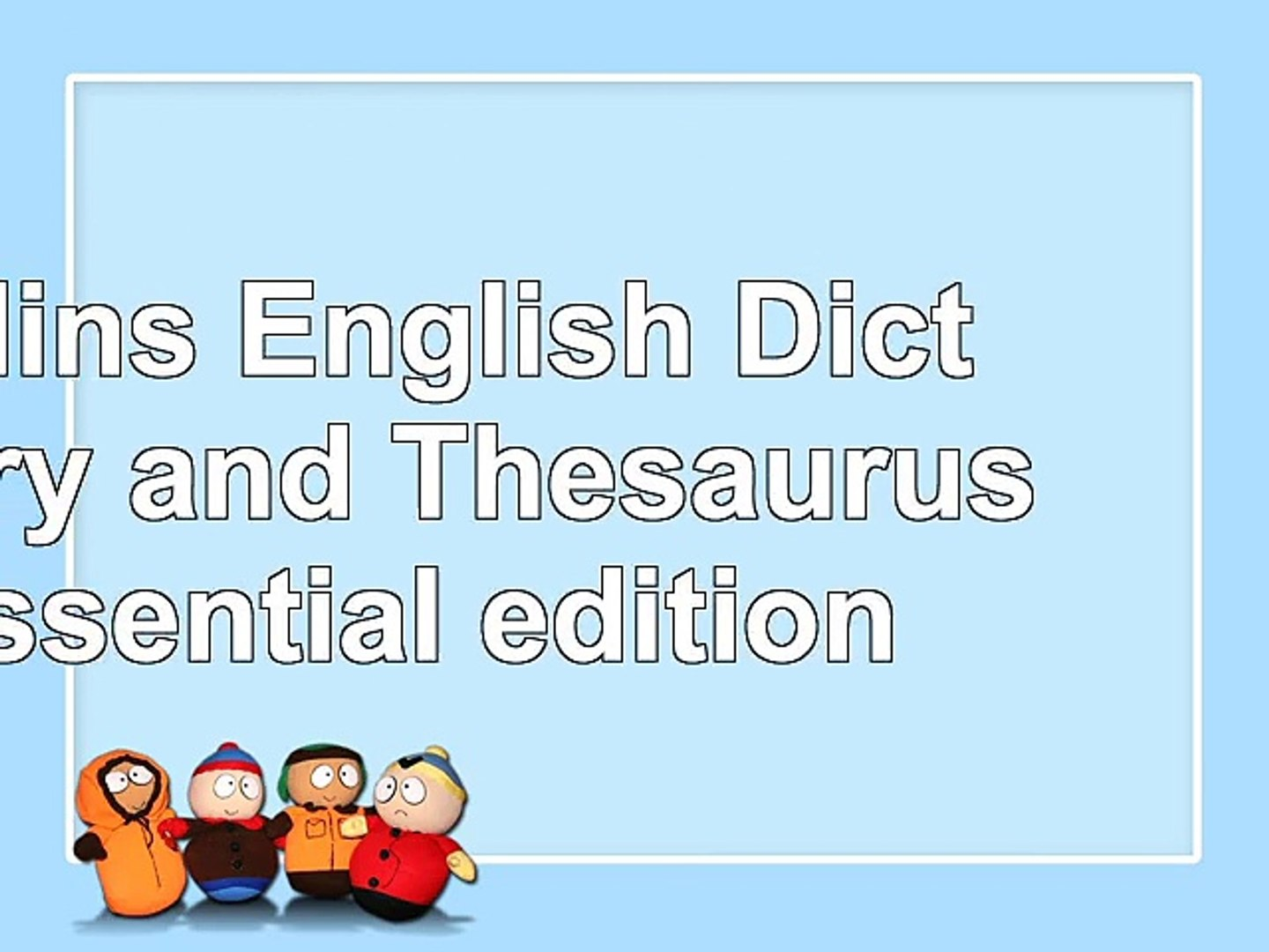 Read  Collins English Dictionary and Thesaurus Essential edition b7602155