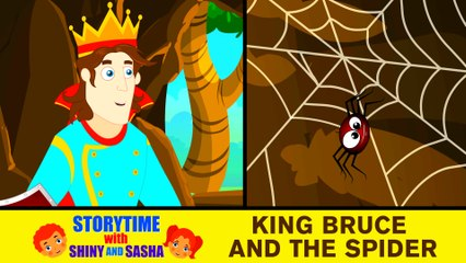 King Bruce and The Spider | Bedtimes Story For Kids | NEVER GIVE UP | English Moral Stories For Kids