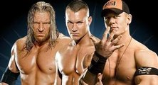 OMG John Cena vs Triple H vs Batista - Triple Threat - Superman vs Game vs the Animal - HD