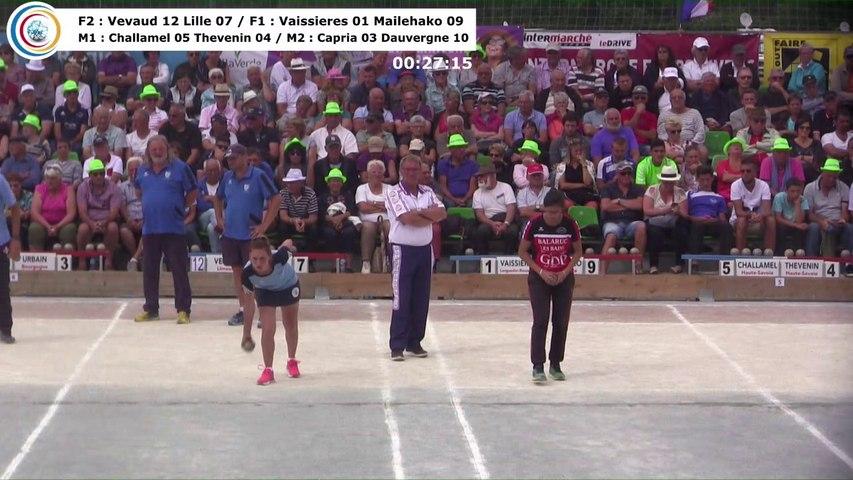 Bonne fête Charlotte Lagarrigue !, Sport Boules, France Doubles, Feurs 2017