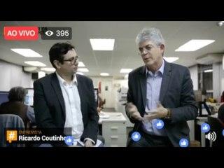 #DiretodaRedação com Ricardo Coutinho, governador da Paraíba