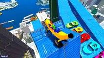 Lernen Sie zahlen - Banane-Auto in Spiderman Cartoon Videos mit Farbe Autos für Kinder und Kinderre