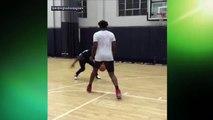【NBA】Paul Pogba BEATS Joel Embiid in Game of 1-on-1 Hoops  2017 NBA Offseason