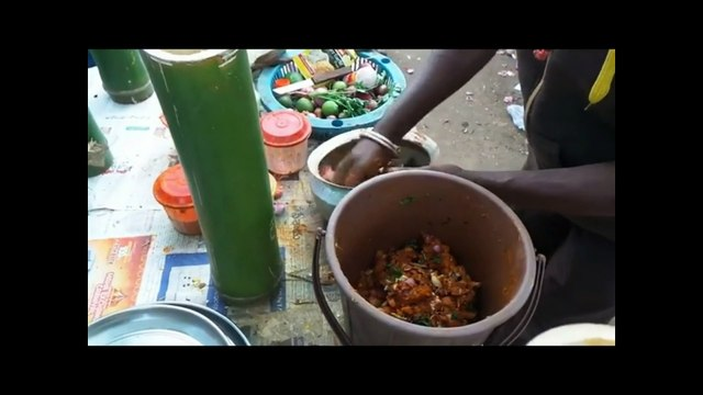 Street Food India - Indian Street Food Hyderabad Andhra style Bamboo chicken Indian Street food