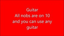 Malcolm and Angus Young Amp and Guitar Settings on Fender Mini Amp and any Guitar