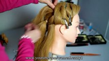 Braided updo hairstyle for medium/long hair tutorial ❤ Wedding, prom