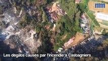 Incendie à Castagniers : les images aériennes des dégâts