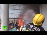 RAW: Fire breaks out in Chinese kindergarten, more than 600 children evacuated