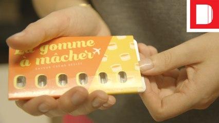 TASTE TEST   Air France's Crème Brûlée & Pistachio Macaron Gum