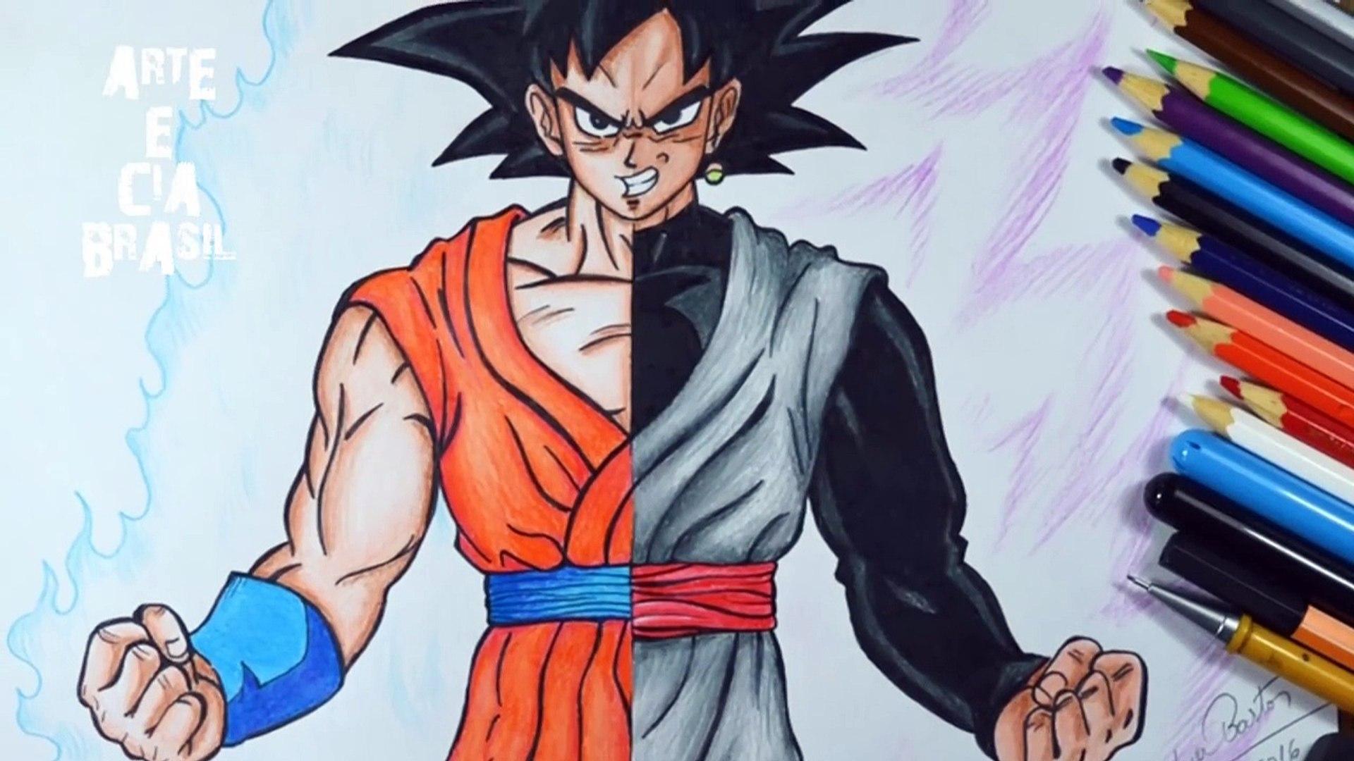 Speed Drawing Goku Ssj Blue Black Ssj Rose Dragon Ball Super