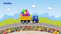 Camions machines dessins animés pro avec enseigner surprise oeuf fruits camion collection de bande dessinée