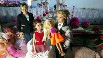 Drôle enfants jouets avec histoire mariage partie 1 barrière et ken chaussettes fun chi cau de Vong