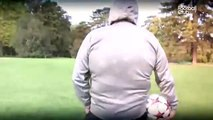 Pierre Ménès réussit le défi des huit jongles lancé par Patrice Evra
