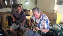 Vic Juris and Dave Stryker Jamming at the Valle Guitars NYC shop.